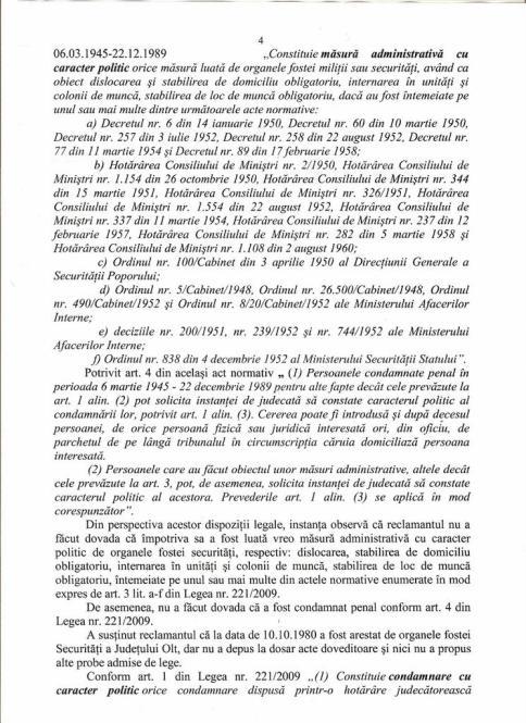 Actiunea Despagubiri - AVP, hotararea fond 004