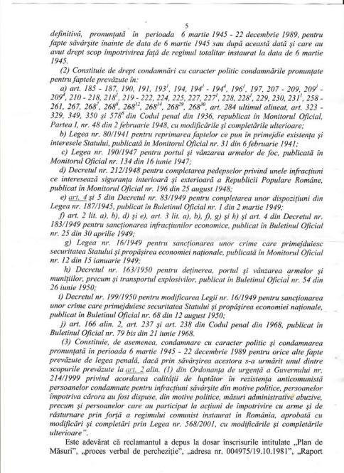 Actiunea Despagubiri - AVP, hotararea fond 005